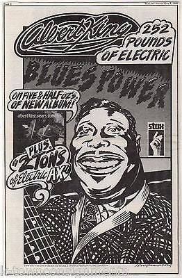 ALBERT KING YEARS GONE BY RECORD ALBUM VINTAGE GRAPHIC ADVERTISING POSTER PRINT - K-townConsignments