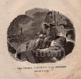 ISAIAH 43:2 CHURCH COMFORTED WITH PROMISES ANTIQUE BIBLE ENGRAVING PRINT 1846 - K-townConsignments