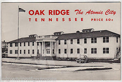 OAK RIDGE TENNESSEE ATOMIC CITY VINTAGE GRAPHIC ADVERTISING MILITARY BOOKLET - K-townConsignments