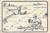 ARCHAEOLOGY DIG SITE ARCHAEOLOGIST ORIGINAL NEWSPAPER COMIC SIGNED INK SKETCH - K-townConsignments