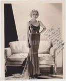 ANITA PAGE BLONDE SILENT MOVIE ACTRESS VINTAGE AUTOGRAPH SIGNED PIN-UP PHOTO - K-townConsignments