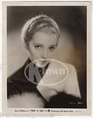 JESSIE MATTHEWS FIRST A GIRL MOVIE ACTRESS VINTAGE MOVIE STUDIO PROMO PHOTOGRAPH - K-townConsignments