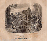 ESTHER 6:11 MORDECAI ELEVATED IN ISRAEL ANTIQUE BIBLE ENGRAVING PRINT 1829 - K-townConsignments