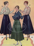 WOOL SKIRTS WOMENS FASHION DESIGN OUTFITS ANTIQUE GRAPHIC ADVERTISING PRINT - K-townConsignments