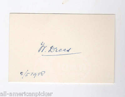 Willem Drees Dutch Prime MInister of Netherlands Vintage Autograph Signature - K-townConsignments