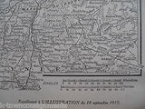 BALTIC STATES OF RUSSIA ANTIQUE FRENCH L'ILLUSTRATION MAP POSTER 1915 - K-townConsignments