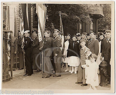 GOLD STAR MOTHERS ARMY NAVY AIR FORCE MEN PARADE WWII HOMEFRONT PHOTO 1946 - K-townConsignments