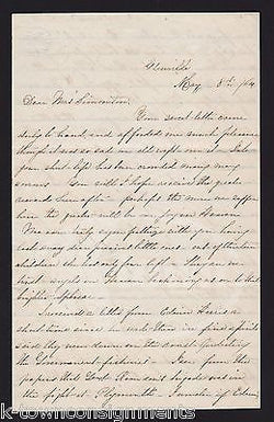 CIVIL WAR CONFEDERATE SOUTHERN BELLE WIDOW OCCUPIED NORTH CAROLINA LETTER 1864 - K-townConsignments
