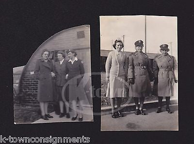 MILITARY WOMEN IN UNIFORM VINTAGE WWII WAAC MILITARY HOMEFRONT SNAPSHOT PHOTOS - K-townConsignments