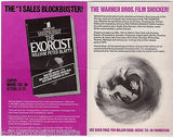 THE EXORCIST HORROR FILM MOVIE ORIGINAL VINTAGE GRAPHIC ADVERTISING PROMO FLYER - K-townConsignments