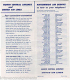 NORTH CENTRAL AIRLINE VINTAGE GRAPHIC ADVERTISING CHARTER FLIGHT PACKET & FLYERS - K-townConsignments