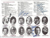 GEORGE HAMILTON HANK THOMPSON KITTY WELLS & 9 OTHER COUNTRY MUSIC AUTOGRAPHS - K-townConsignments