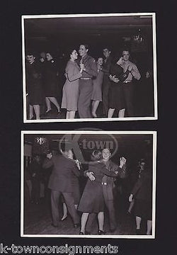 WAC WOMEN IN UNIFORM DANCE PARTY WITH GI BOYS FUN VINTAGE WWII SNAPSHOT PHOTOS - K-townConsignments