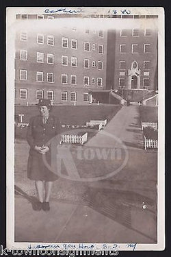 HALLORAN HOSPITAL NEW YORK WAC MILITARY WOMAN IN UNIFORM WWII SNAPSHOT PHOTO - K-townConsignments