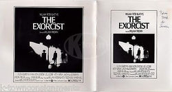 THE EXORCIST MOVIE FROM BOOK TO SCREEN VINTAGE GRAPHIC ADVERTISING PROMO MOCK-UP - K-townConsignments