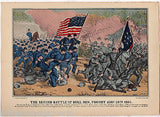 SECOND BATTLE OF BULL RUN VINTAGE CIVIL WAR SOLDIERS GRAPHIC POSTER PRINT - K-townConsignments