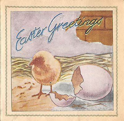 WWII PURPLE HEART RECIPIENT SIGNED ITALIAN EASTER GREETING CARD FROM ITALY 1945 - K-townConsignments