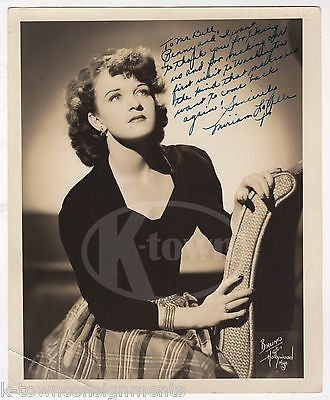 MIRIAM LAVELLE STAGE ACTRESS DANCER AUTOGRAPH SIGNED BRUNO OF HOLLYWOOD PHOTO - K-townConsignments