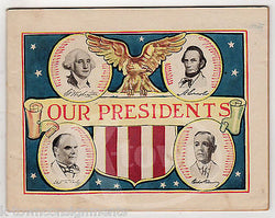 UNITED STATES OUR PRESIDENTS ALKA SELTZER VINTAGE GRAPHIC ADVERTISING INFO BOOK - K-townConsignments