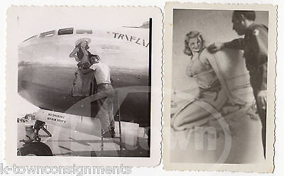PETER LAMONT WWII NOSE ART PIN-UP ARTIST VINTAGE WWII AVIATION SNAPSHOT PHOTOS - K-townConsignments