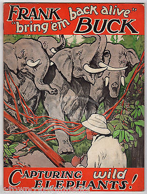 FRANK BUCK CAPTURING WILD ELEPHANTS OLD AFRICAN BIG GAME HUNTING BOOK 1934 - K-townConsignments