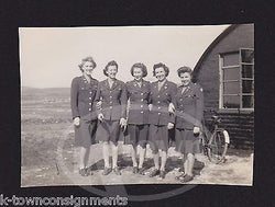 CUTE WAC WOMEN IN UNIFORM IDed WWII HOMEFRONT AMERICANA SNAPSHOT PHOTOGRAPH - K-townConsignments