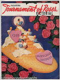 PASADENA TOURNAMENT OF ROSES FLOWER PARADE ANTIQUE PICTURE MAGAZINE PROGRAM 1938 - K-townConsignments