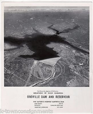 Oroville Dam California Reservoir Vintage 1960s News Promo Press Photograph  1962