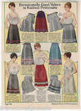 LADIES SILK DRESSES WOMENS FASHIONS ANTIQUE GRAPHIC ADVERTISING CATALOG PRINT - K-townConsignments