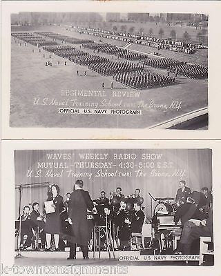 WWII US NAVAL TRAINING SCHOOL GREAT LAKES ILLINOIS WAVES RADIO SHOW PHOTO CARDS - K-townConsignments