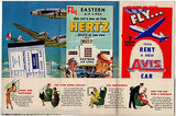 EASTERN AIRLINES VINTAGE GRAPHIC ADVERTISING SOUVENIR FLIGHT PACKET & FLYERS - K-townConsignments