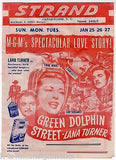 LANA TURNER GREEN DOLPHIN STREET MOVIE ACTRESS ORIGINAL MOVIE PROMO POSTER FLYER - K-townConsignments