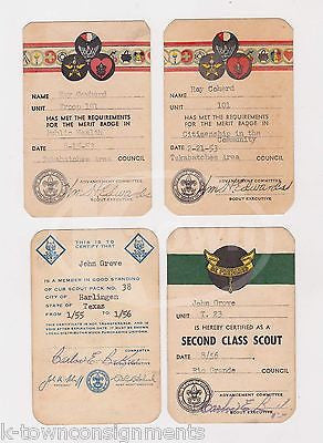 BOY SCOUTS OF AMERICA VINTAGE REGISTRATION MEMBERSHIP CARDS 1953 & 1956 - K-townConsignments
