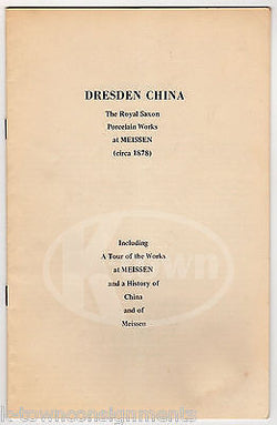 DRESDEN CHINA ROYAL SAXON PORCELAIN VINTAGE ILLUSTRATED HISTORY BOOKLET 1970 - K-townConsignments