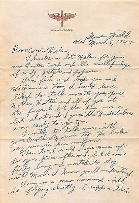 722ND SQUADRON RADIO OPERATOR ORIGINAL WWII ARMY AIR FORCE LETTER HOME & VMAIL - K-townConsignments
