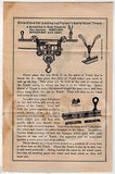 PORTER ADJUSTABLE RAILROAD TRACK PULLEY OTTOWA ILLINOUS ANTIQUE ADVERTISING 1891 - K-townConsignments