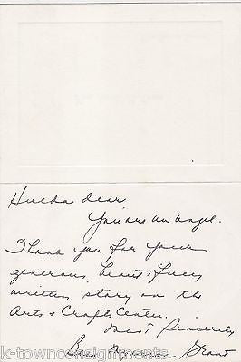 BESS MYERSON JEWISH MISS AMERICAN PAGEANT AUTOGRAPH SIGNED PERSONAL NOTE CARD - K-townConsignments