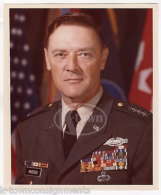 FREDERICK KROESEN 4 STAR GENERAL NATO CENTRAL AUTOGRAPH SIGNED MILITARY PHOTO - K-townConsignments