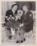 WWII WAVES WOMEN IN UNIFORM RED CROSS PEPSI CENTER SAN FRANCISCO PRESS PHOTO - K-townConsignments