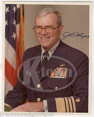 JOHN BRIGGS HAYES COAST GUARD ADMIRAL VINTAGE AUTOGRAPH SIGNED 8x10 PHOTO - K-townConsignments