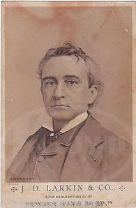 EDWIN BOOTH GREAT THEATRE ACTOR LINCOLN ASSASSIN BROTHER ANTIQUE PHOTO CARD - K-townConsignments