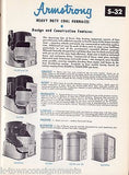 ARMSTRONG AIR CONDITIONING GAS COAL OIL FURNACES VINTAGE MACHINE REPAIR CATALOG - K-townConsignments