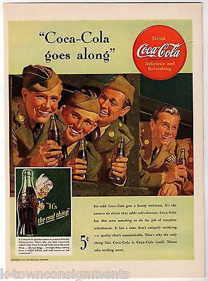 Coke Coca-Cola Vintage WWII Gi Soldiers Graphic ...