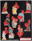 BLACK CAT SPACE BOY CLOWN & MORE VINTAGE VALENTINE'S DAY CARDS SALES DISPLAY - K-townConsignments
