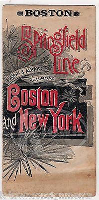 BOSTON NEW YORK SPRINGFIELD RAILROAD TRAIN LINE GRAPHIC ADVERTISING BROCHURE - K-townConsignments
