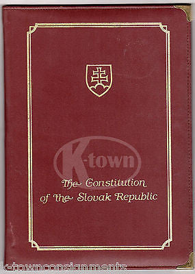 CONSTITUTION OF THE SLOVAK REPUBLIC ORIGINAL AUTOGRAPH SIGNED POLITICAL BOOK - K-townConsignments