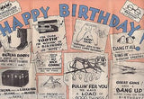 FARMER BROWN HUMOR VINTAGE GRAPHIC ILLUSTRATED FOLD-OUT POSTER BIRTHDAY CARD - K-townConsignments