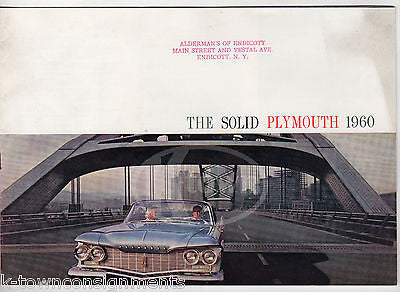 PLYMOUTH FURY BELVEDERE & SAVOY VINTAGE GRAPHIC ADVERTISING SALES BROCHURE BOOK - K-townConsignments
