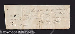 Lt EBAN GRAY REVOLUTIONARY WAR 6th CONNECTICUT ANTIQUE AUTOGRAPH SIGNED DOCUMENT - K-townConsignments