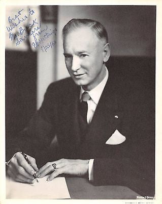 EZEKIEL CANDIER GATHINGS ARKANSAS CONGRESSMAN ORIGINAL AUTOGRPAH SIGNED PHOTO - K-townConsignments